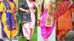 Punjabi Suit Gale Design Handmade Modern Phulkari Suit Design Punjabi Suit Designer Boutique Dupatta Suit Design