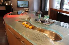 black recycled glass countertops green