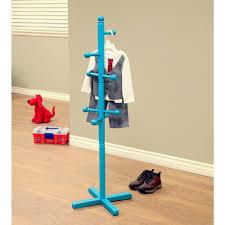megahome blue coat rack with 8 hooks