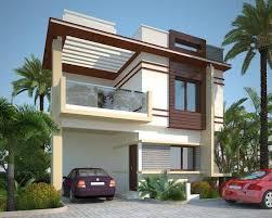 duplex house design plans elevation front flat roof modern home