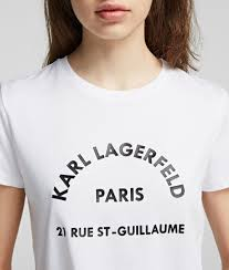 Address Logo T Shirt Karl Lagerfeld Collections By Karl