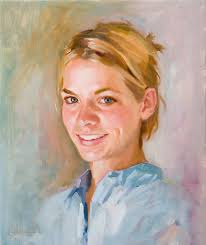 there is a certain risk of overblending the portrait in this phase i paint the separation between the upper teeth and lower lip