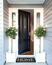 White front door with glass Wood Porch Column White Entry Door Black And Always Looks Stylish Front Doors With Sidelights Double Glass Craftycow White Entry Door Black And Always Looks Stylish Front Doors With