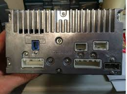 nissan head unit? nissan cube life nissan cube car forums Nissan Cube Wiring Diagrams the blue port i believe is the usb ipod port the gray port is the antenna i need to find the back up camera and steering wheel control wires nissan cube wiring diagram