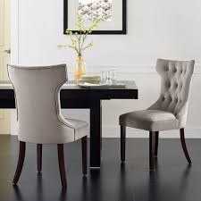 surprising design tufted dining chairs with nailheads 16
