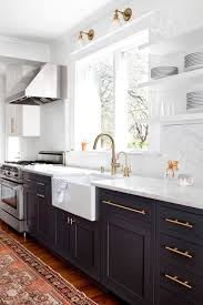 Black Counters Grey Cabinets And White Walls I Think The First One What Do You Think New House Pinterest Black Counters Gray Cabinets And