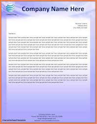 12 Company Letterhead Templates Word Company Letterhead