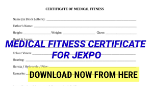 How To Download Medical Fitness Certificate Format For Jexpo