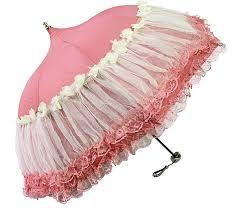 Victorian Parasols, Umbrella   Lace Parosol Honeystore Pagoda Parasol 3  Folding Lace Totes Sun Rain