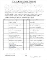 Sample Orientation Checklist For New Employee New Hire Orientation Checklist Template
