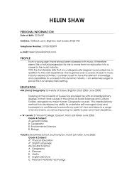 Cover Letter Student Cv Profile Examples Free Download Cv Profile