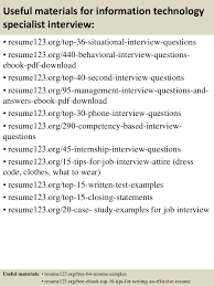 12 useful materials for information technology sample technology resume