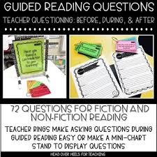 Mini Anchor Chart Stand Guided Reading Questions For Fiction Non Fiction Before During After
