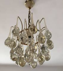 Palme Kronleuchter Christoph Vintage Glas Von In Tropfen Aus