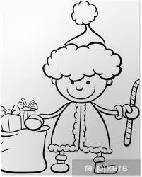 Poster Kerstman Kind Cartoon Kleurplaat Pixers We Leven Om Te