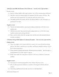Self Evaluation Negative Performance Review Phrases Examples