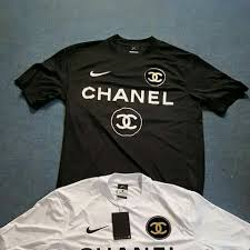 chanel jersey. nike dri fit x chanel soccer jersey colors : black or white size l condition 10/10 - depop