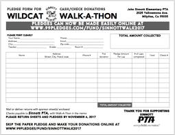 Walkathon Pledge Form Templates Walkathon Pledge Sheets Serpto Carpentersdaughter Co