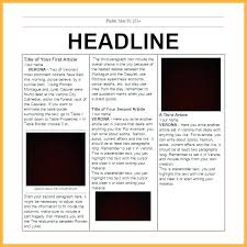 Create Newspaper Article Template Sample Newspaper Article Templates To Download Fake Template Reflexapp