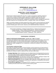 Resume Template Objective For Marketing Sample Of With Regard To