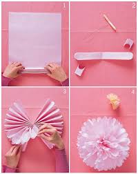 How To Make A Flower Out Of Tissue Paper Step By Step 4 Easy Steps To Diy Tissue Pom Poms Taylars Wedding Pinterest