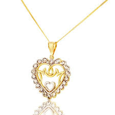 new 9ct yellow gold 18 inch mum heart pendant chain necklace jewellery from william may jewellers uk