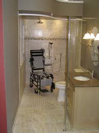 Small accessible roll in shower