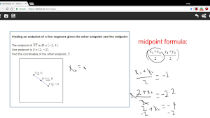 Endpoint Formula Eoc Aleks Geometry Finding An Endpoint Of A Line