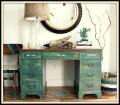 distressed antique furniture. The Turquoise Iris ~ Furniture \u0026 Art: Teal Distressed Antique Desk With  Re-Finished Mahogany Top Distressed Antique Furniture