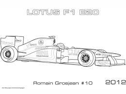 Lotus 2012 E20 Formula 1 Auto Kleurplaat Gratis Kleurplaten Printen
