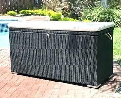 outdoor wicker storage bench outdoor storage