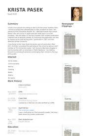 Crew Member Resume Samples   VisualCV Resume Samples Database