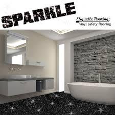 black sparkle safety flooring bathroom floor vinyl lino sparkly glitter wetroom