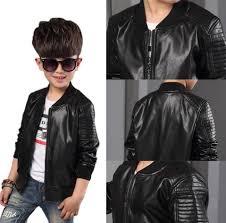details about new toddler kids boys leather jackets slim motorcycle leather biker jacket coat