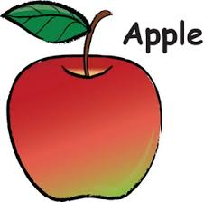 green and red apple clipart. apple clipart image: red green and i