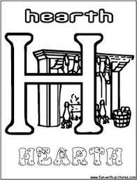 alphabets h for hearth