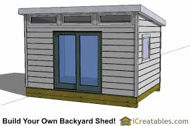 Small Picture Modern Shed Plans Modern DIY Office Studio Shed Designs