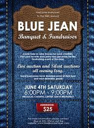 Auction Invitations Blue Jeans Invitation