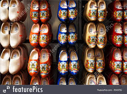 wooden shoes in netherlands royalty free stock photo
