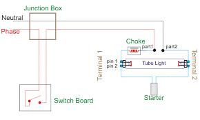 wiring diagram for a single tube light circuit electrical4u wiring diagram of single tube light installation electromagnetic ballast