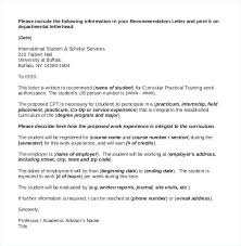 Letter Of Recommendation Template For Student Scholarship