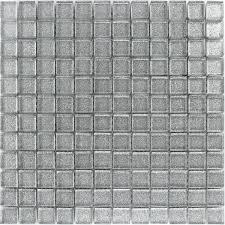 glitter glass mosaic tiles silver pl78148m