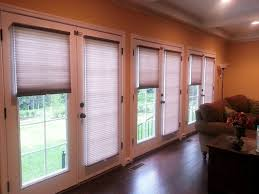 cellular shades on french doors contemporary living room dc intended for cellular shades