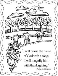 Free Printable Coloring Pages Thanksgiving Christian L L
