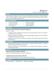 Sales Coordinator Resume Resume Work Template