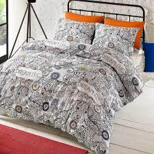 bedding doodle dream duvet cover set king multicolour co uk kitchen home