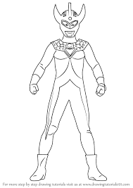 learn how to draw an ultraman taro ultraman step by step drawing tutorials