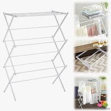 portable folding clothes drying rack laundry hanging indoor clothesline outdoor