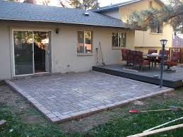 how to build a paver patio landscaping and outdoor ideas with laying pavers for over concrete