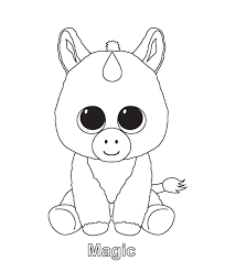 Coloring Ty Beanie Boo Coloring Pages Download And Print
